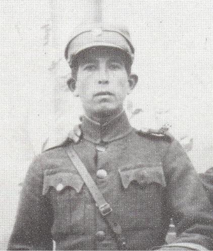 """Κουλάνης Προκόπιος του Παναγιώτη. Σκοτώθηκε στις 21-2-1948 στη θέση """"Αράπη Πέτρες""""."""