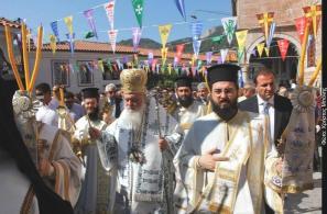 Από την επίσκεψη του Αρχιεπισκόπου Αθηνών και Πάσης Ελλάδος κ. Ιερώνυμου (15-8-2008).
