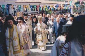 Από την επίσκεψη του Οικουμενικού Πατριάρχη κ. Βαρθολομαίου Α΄ και του Προέδρου της Ελληνικής Δημοκρατίας κ. Κάρολου Παπούλια (15-8-2006).