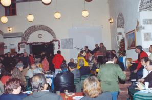 Εκδήλωση της 1ης Γιορτής Κάστανου (12-12-2004) στο Κέντρο Νεότητας του Δήμου Αγιάσου.
