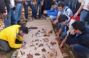 """Ταυτοποίηση μανιταριών του καστανιώνα από μέλη του Μυκητολογικού Συλλόγου Λέσβου """"Μανιταρόφιλοι""""."""