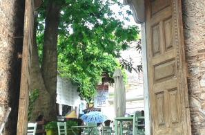 Η ανατολική πύλη της εκκλησίας της Παναγίας με τους χαρακτηριστικούς νταμπλάδες.