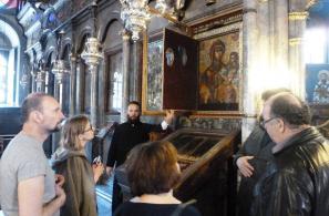 Το προσκυνητάρι με την Εικόνα της Παναγίας (Από την επίσκεψη του Ρώσου ποιητή και λογοτέχνη Μιχάηλ Ταρκόφσκι στις 27-4-2015).