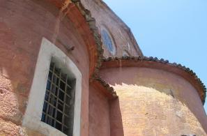 Άποψη της ανατολικής πλευράς του Ιερού Ναού (Ιερό).